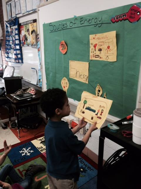 First graders tracking energy consumption