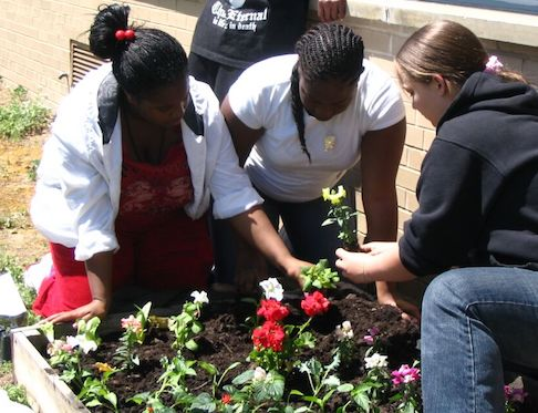 Image: River Rouge Students Planting