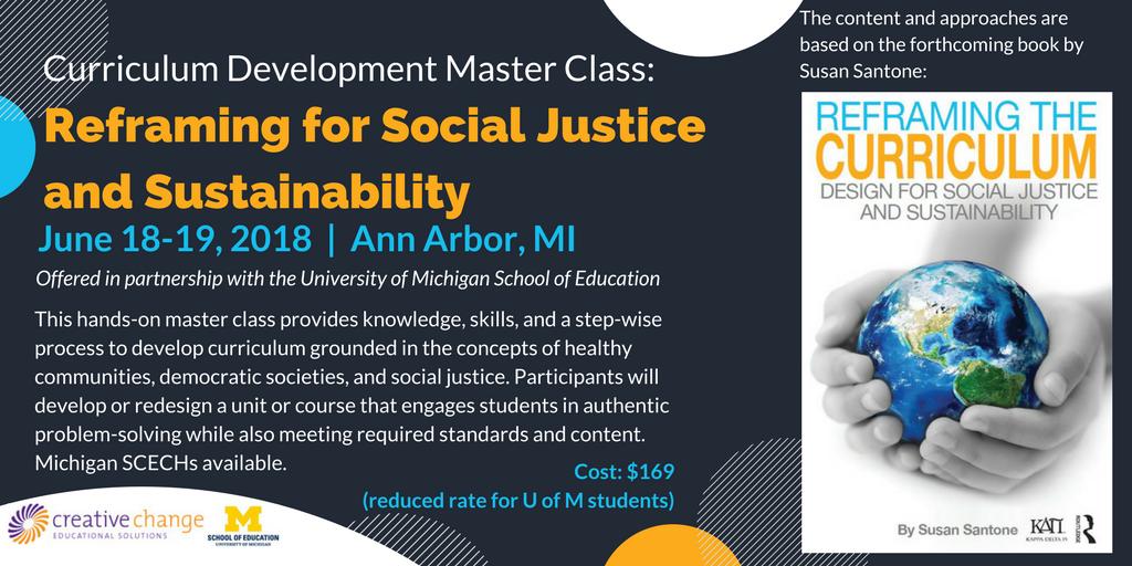 Curriculum Development Master Class Social Justice Sustainability